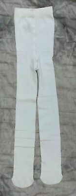 X-store age 5-6 years Girls WHITE Super Soft warm Cotton rich Tights bnwt