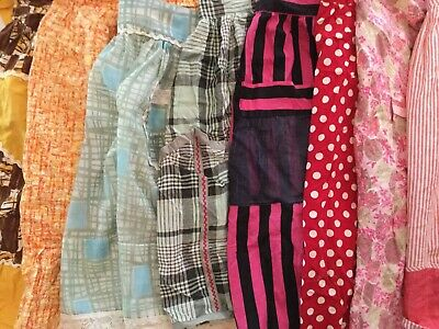 Lot Of 15 Vintage Aprons - Geometric 04256