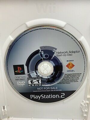 Sony Playstation 2 Network Adapter Start Up Disc PS2 Tested