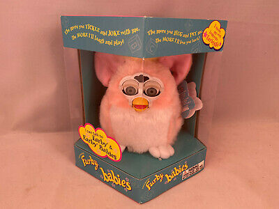 """RARE Furby Babies """"Peachy"""" w/ Yellow Hair (1999) ABSOLUTELY MINT!"""