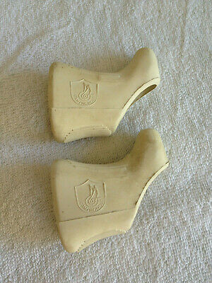 One Pair of Campagnolo Shield Brake Lever Hoods brown Nuovo Super record
