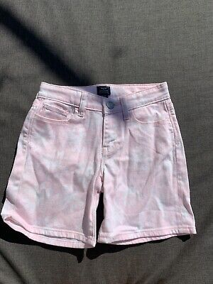 Gap Kids Girls Pink Floral Patterned Boyfriend Style Denim Shorts Age 8-9 Years
