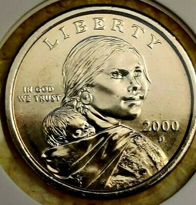 "2000-D Sacagawea Native American $1 Dollar US Mint Coin ""Brilliant Uncirculated"""