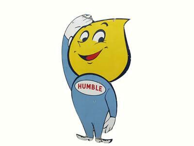 "Humble Oil ""Happy"" Early 1960's Logo Embroidered Ball Cap Baseball Hat New"