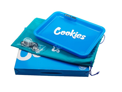 Cookies Blue Glowing Rolling Tray New Rechargable