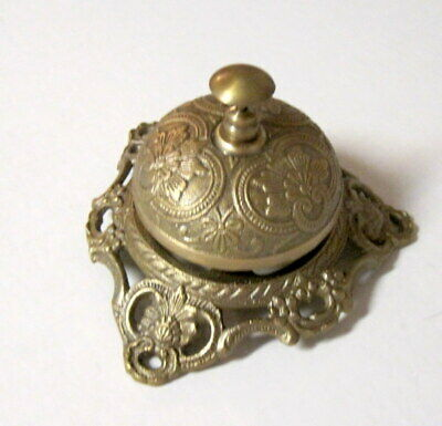 Ornate Victorian Style Brass Hotel Counter; Office; Home Decor Bell