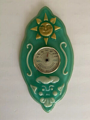 Vintage Lucite Weather Wall Plaque Thermometer Calendar Japan