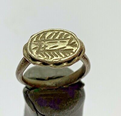 ANCIENT ROMAN SILVER RING MILITARY LEGIONARY LEGIO CIRCA 41-40BC 4,9g 17mm inner