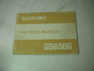 1981 Gs650G 650 Suzuki Book Used Owners Manual