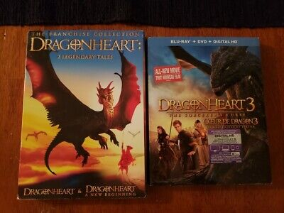 Dragonheart 1-3 Collection DVD combo