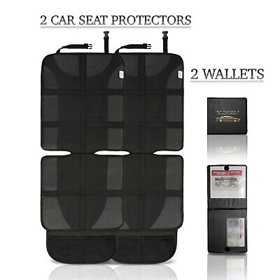 (2-Pack) Car Seat Protector Cover for Kids & Adults + 2 WALLETS!