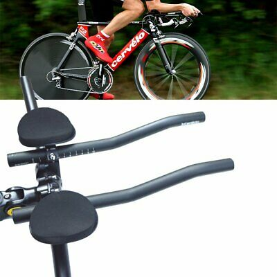 Vision TriMax J-Bend Alloy Clip-On TT-Triathlon Extension Aero Bars for 31.8 Bas
