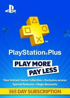 Sony PlayStation Plus 1 Year ONLY IN USA!!!