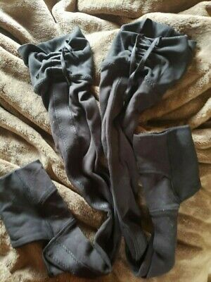 lululemon over the knee leg warmers - Black RARE drawstring and ribbon detail