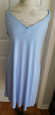 NWOT BLUE w/DOTS GILLIGAN & O'MALLEY WOMEN'S STRETCHY NIGHTGOWN IN SIZE XXL