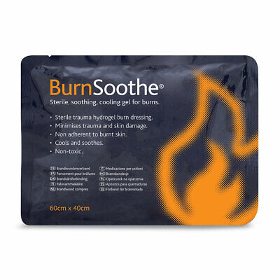 BurnSoothe Cooling Sterile First Aid Hydrogel Relief Burn Dressing 60cm x 40cm