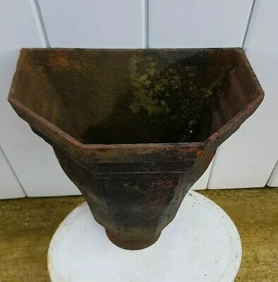 "11"" Victorian Cast Iron Old Rain Hopper reclamation gutter"