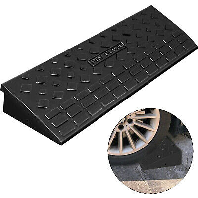 11000lb Rubber Curb Ramp 35''x9.8''x10'' Skid Resistance Heavy Duty Forklift