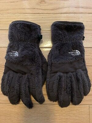 The North Face Womens Size Large Brown Fuzzy Soft Winter Gloves