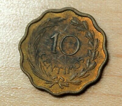 1953 Paraguay 10 Centimos