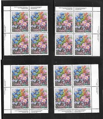 CANADA 1980 iNTERNATIONAL EVENTS (GARDEN) 17 CENTS  M.S. of 4 PLATE BLOCKS # 855