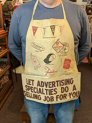 Vintage RARE Advertising Salesman's Apron Allis Chalmers Cities Service Standard