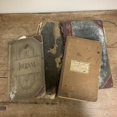 Antique Late 1800s Early 1900s Ledger Blacksmith Criminal Docket Journal Lot