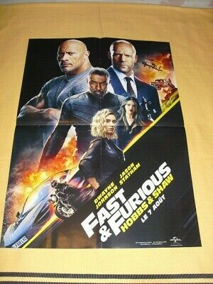 POSTER Fast & Furious Hobbs&Shaw / Le Flic de Beverly Hills