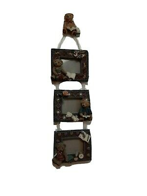 Hanging Teddy Bear Picture Frame.  Multiple Photographs.