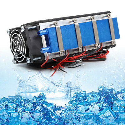 8 Chip TEC1-12706 Thermoelectric Cooler Refrigeration Peltier Cooling Fan 576W
