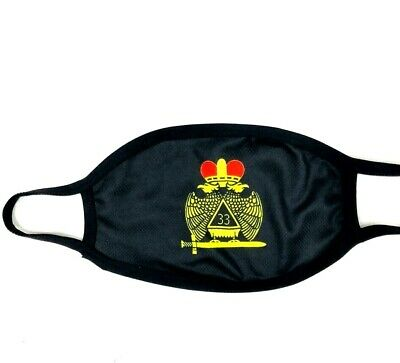 Masonic 33Rd Degree Wings Down Face Mask, 33Rd Degree Wings Down Facemask