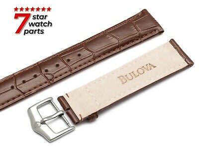 FITS BULOVA WATCH BROWN LEATHER Watch Strap Band For Buckle Clasp LUNAR PILOT