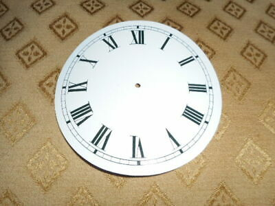 """Round Paper (Card) Clock Dial - 4 1/4"""" MINUTE TRACK - Roman- GLOSS WHITE - Parts"""