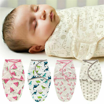 0-6 Months Pure Cotton NewBorn Baby Boy/Girl Swaddle Blanket Wrap Sleeping Bag