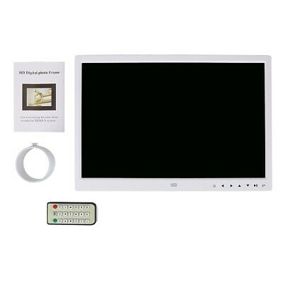 15in TFT LED Touch Screen Digital Photo Frame Picture Alarm Clock Movie Player