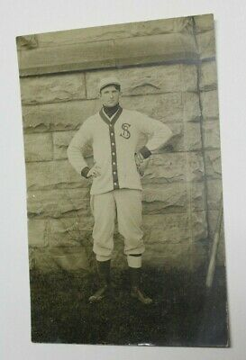 Real Picture Postcard Baseball Player Vintage