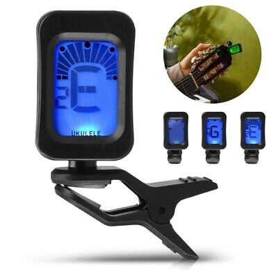 LCD Digital Clip On Guitar Tuner Electric Chromatic Acoustic Bass Violin Ukulele