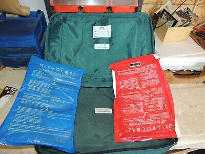 Pyrex Portables The way to go, Micro Core Cold refrigerant packs. Carry bags