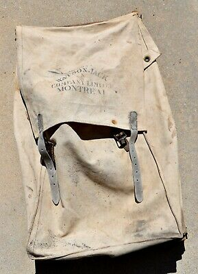 Antique Wood Frame Canvas Prospector's Bag/Backpack ~ Watson Jack & Co Montreal