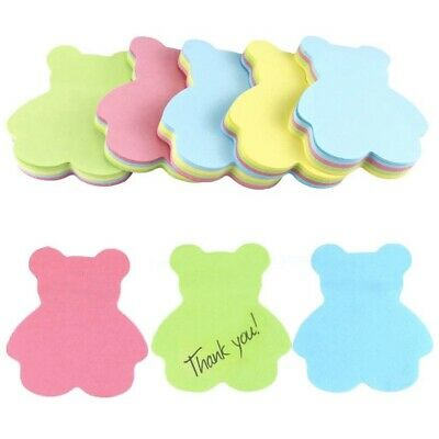 Bear Sticky Notes Cute Colorful 100 Sheets Free US Shipping