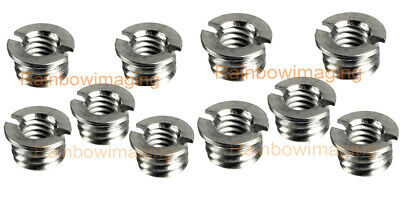 """(10 Packs) Stainless Steel 3/8""""-16 to 1/4""""-20 Convert Screw Adapter for Tripod"""
