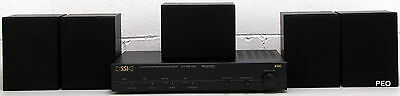 SSI Products Home Theater Surround Sound Receiver System 1500 with Four Speakers
