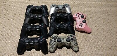 Sony PlayStation 3 PS3 Dualshock 9 Controllers Parts NOT working FREE SHIPPING