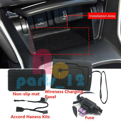 USB Phone Wireless Charging Refit Console Panel For Honda Accord 2018-2019
