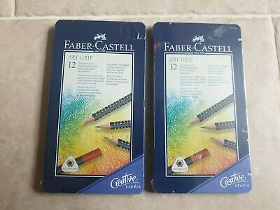 2X Faber Castell Art Grip Colour Pencils Set of 12 ( 24 in total)