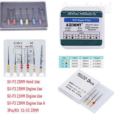 Dental Endodontic Files Root Canal Niti X1-X3 SX-F3 File Engine 25/21MM 1-50Pack