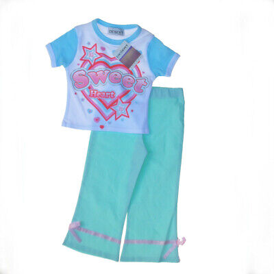 Girls 2pcTeeShirt & Pedal Pushers to match,Three Quarter Lenght ,size 2/3 years