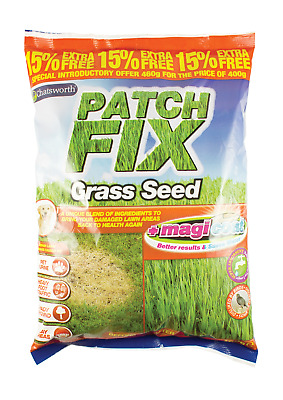 Chatsworth 2 X 600g Super Patch Grass Seed Gardening Thicken Lawns for 15 Patche