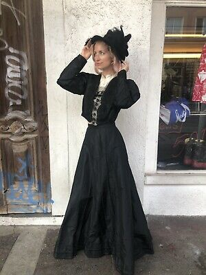 Vintage 1890's to Early 1900's Victorian Lot Skirt, Cape, Tops and Hats