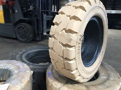 15x4.5-8 Continental Solid Non Marking Pneumatic Tire Forklift NashFuel